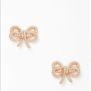 NWT! Kate Spade Bow Meets Girl Pave Studs